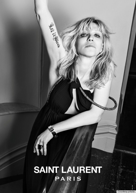 Courtney Love for Hedi Slimane's campaign for Saint Laurent.