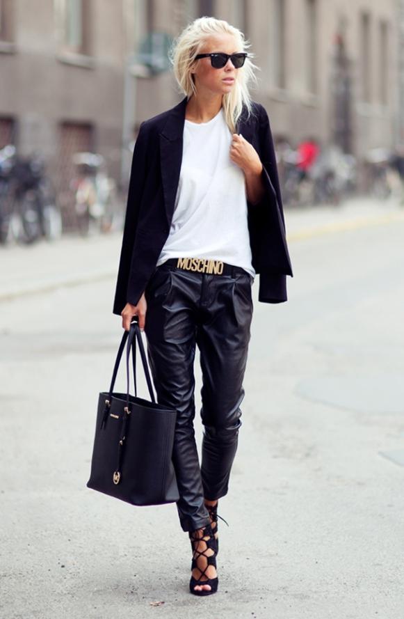 la-modella-mafia-2013-street-style-chic-baggy-black-leather-trousers-and-a-blazer-1
