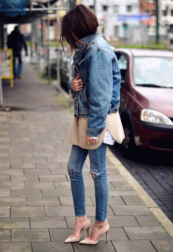 streetstyle fashion blog magazine double denim