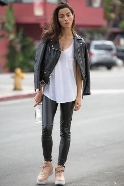 nwe67y-l-610x610-sweatstyle-blogger-tank-leatherjacket-white-leatherpants-nudesneakers-streetstyle